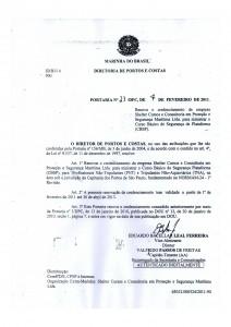 CBSP em Santos – Portaria nº23 DPC