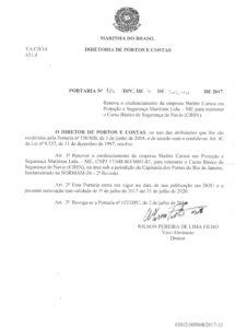 CBSN no RJ – Portaria nº 179 DPC