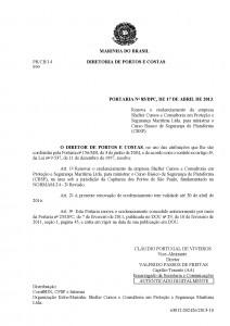 CBSP em Santos – Portaria nº85 DPC