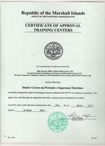 Certificado Ilhas Marshall