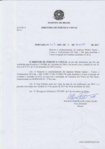 Portaria DPC n. 227 de 2017 - CACI Santos