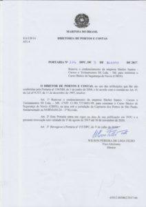 Portaria DPC n. 226 de 2017 -CBSN Santos