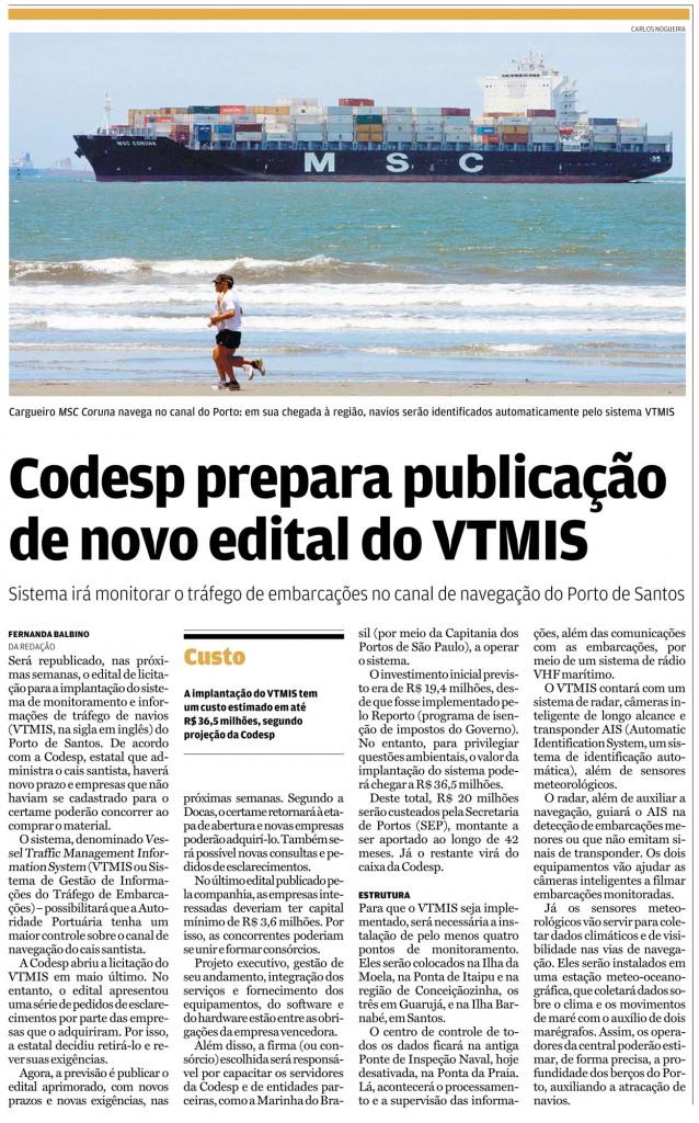 Codesp Novo Edital VTMIS